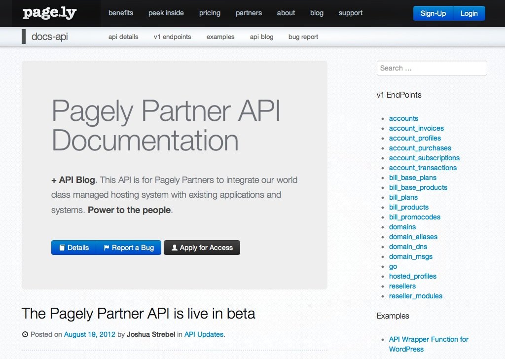 Pagely Partner API Documentation