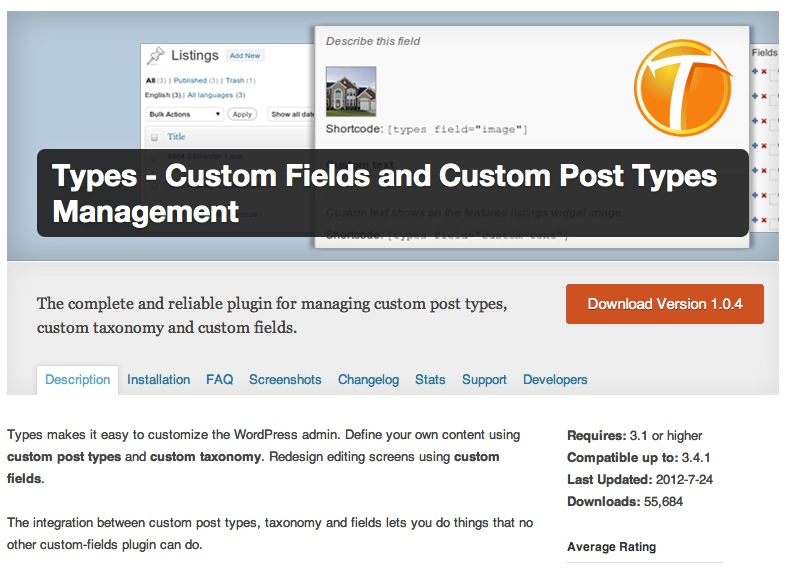 Customer Fields and Custom Types Management
