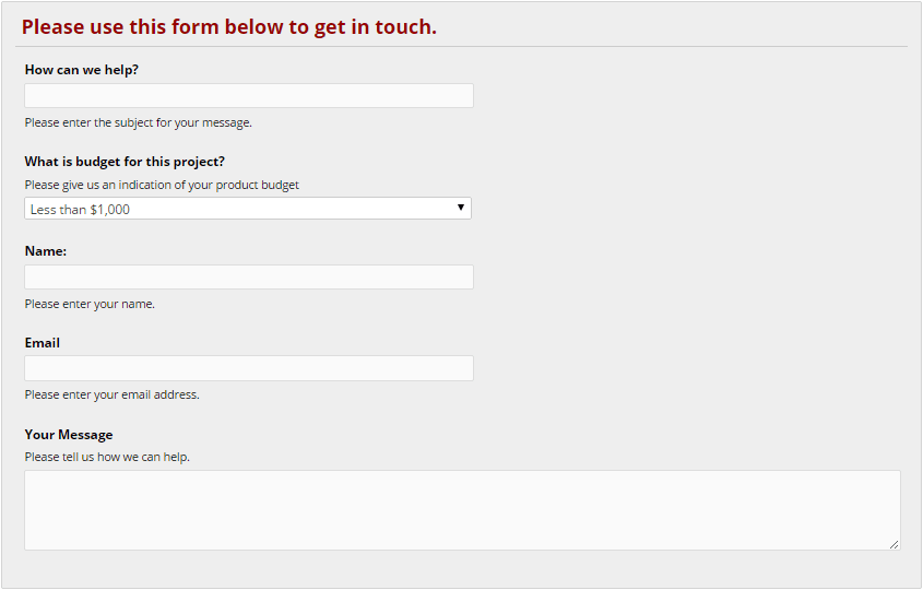 how to create a form for a website