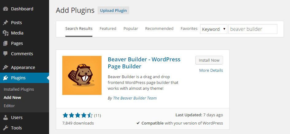 Beaver Builder - WordPress Tool For Your Business Website in 2017