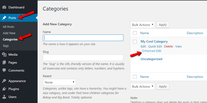 Custom Category Pages WordPress