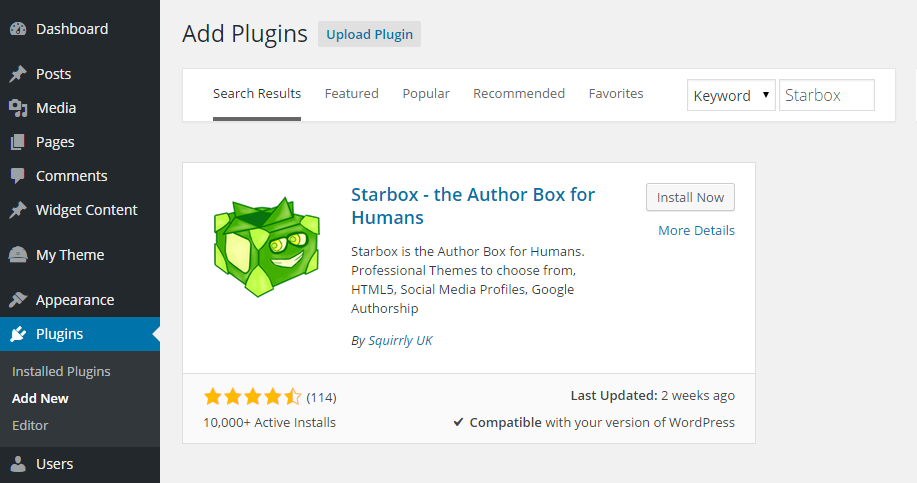 how to add search box in wordpress page