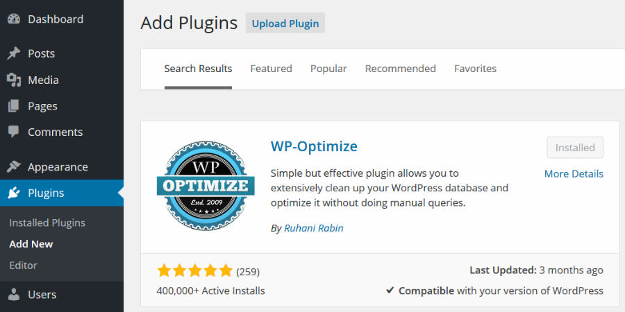 WP Optimize - WordPress Tool For Your Business Website in 2017