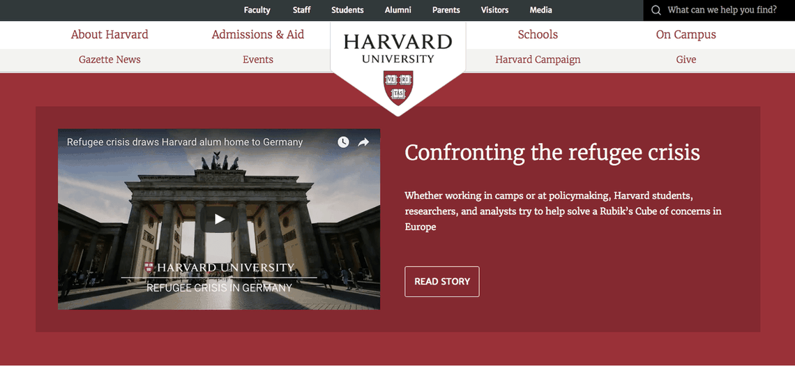 Top University Websites Using WordPress: Harvard