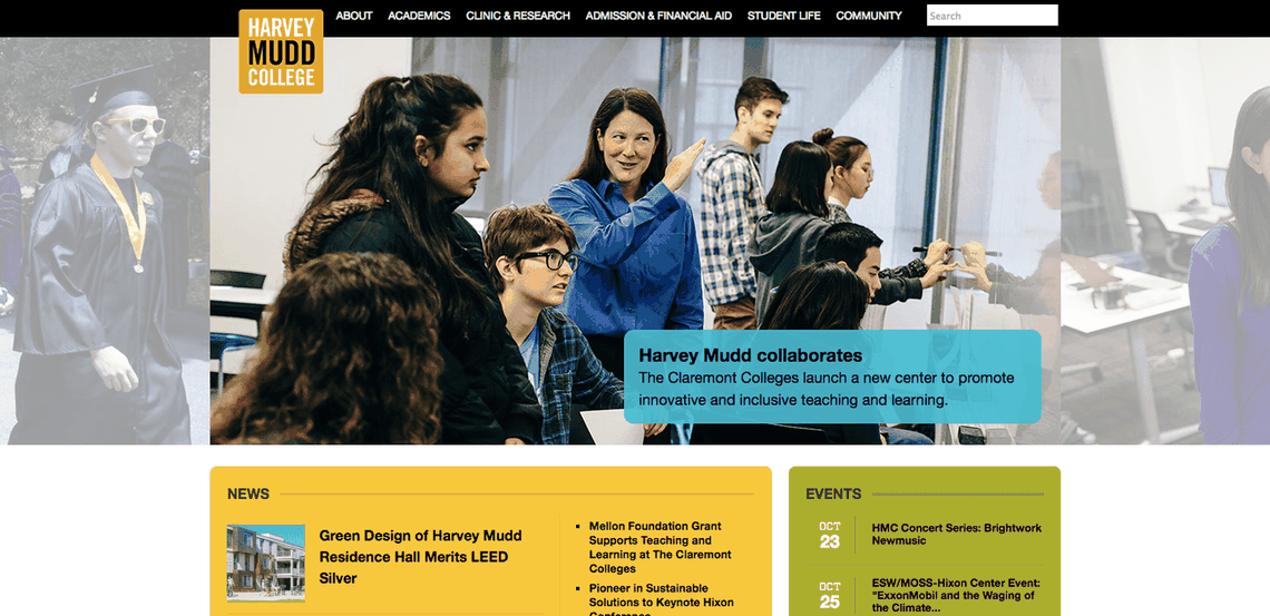Top University Websites Using WordPress: Harvey Mudd College