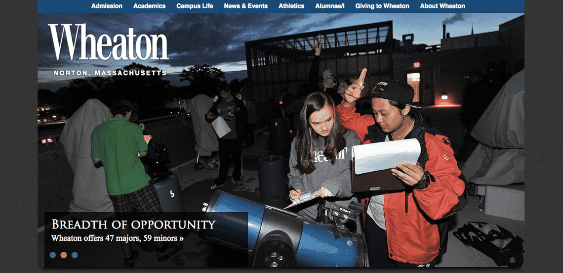 Top University Websites Using WordPress: Wheaton College