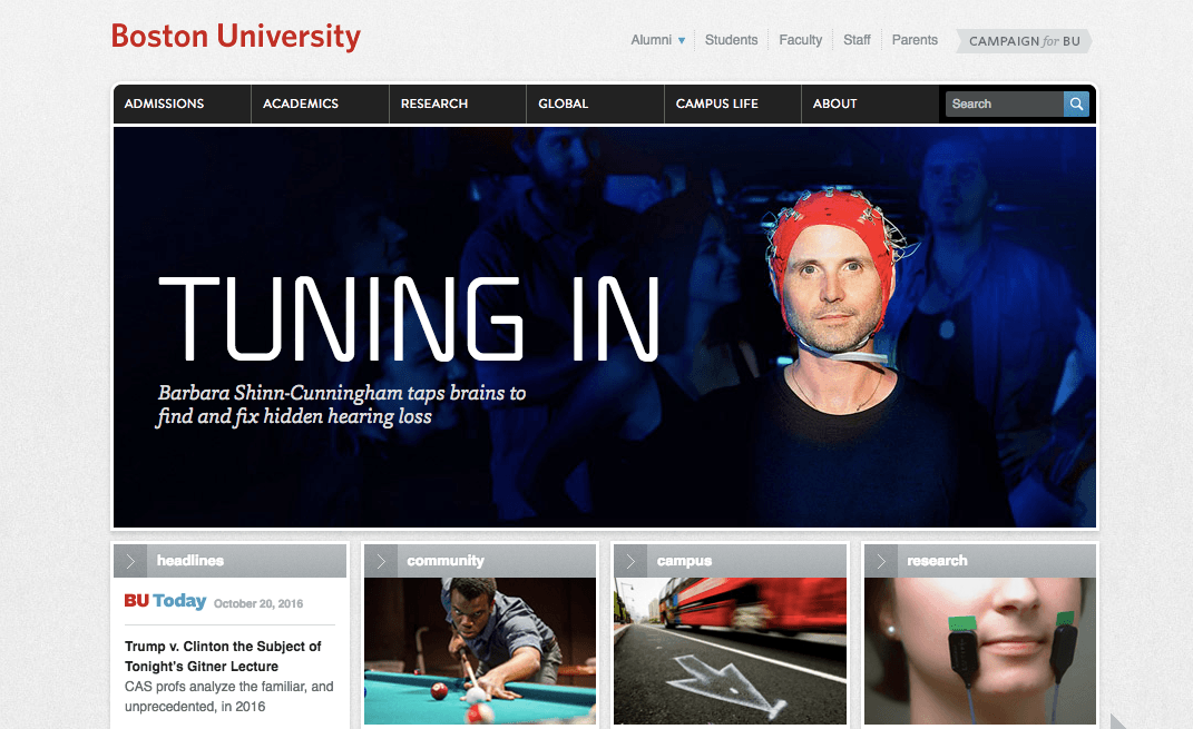 Top University Websites Using WordPress: Boston University