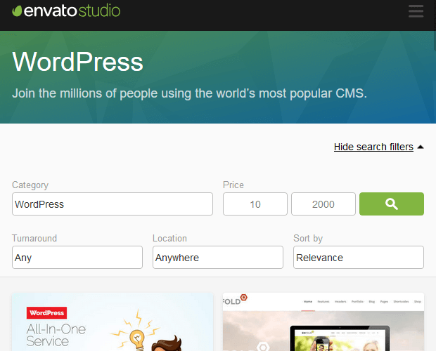 Envato Studio - WordPress Developer Resource