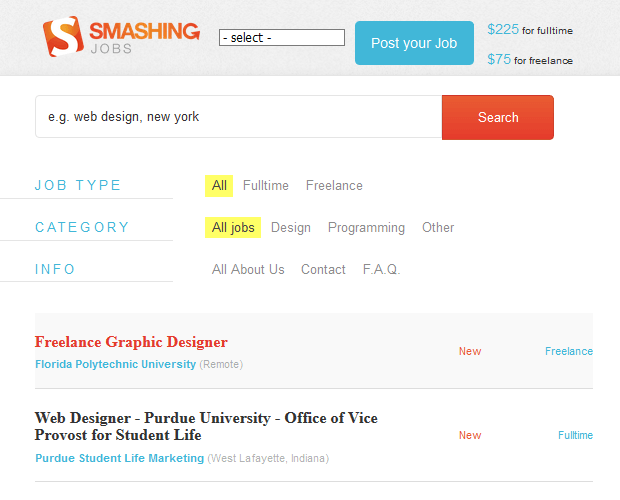 Smashing Jobs - WordPress Developer Resource