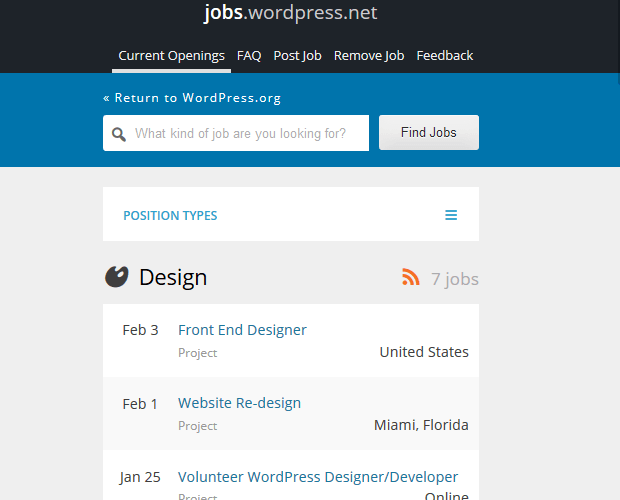 WordPress Jobs - WordPress Developer Resource