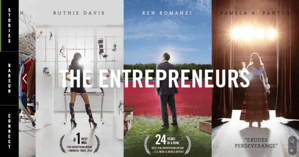"""Babson College's """"The Entrepreneurs"""" campaign."""