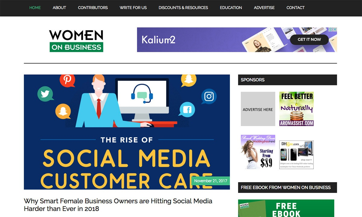 The Women on Business blog.